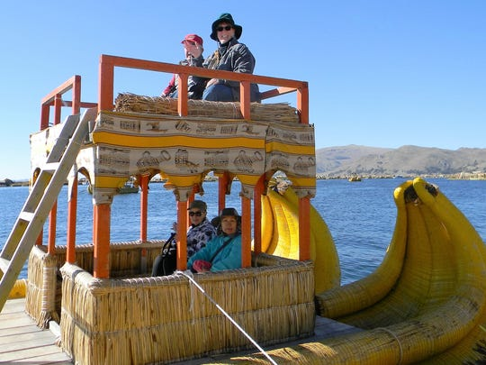 After visiting Machu Picchu, the Kallens spent a few days at Lake Titicaca, learning about the Uros people who live on reed islands in the lake.