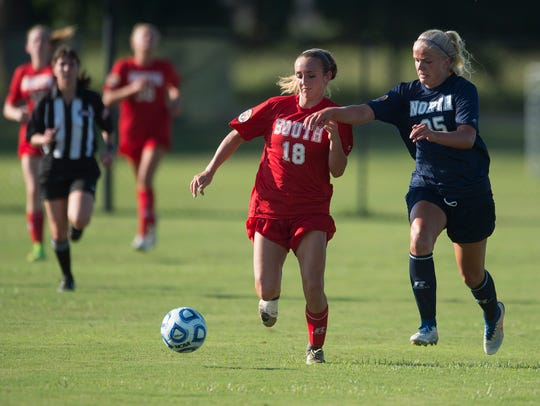 Smiths Station's Mayson Jaindl (18) competes for a