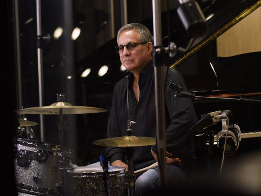 Max Weinberg, drummer for the E Street Band at the Lake House recording studio in Asbury Park on Saturday July 15, 2017. Weinberg records an instructional feature on drumming for the soon-to-open Grammy Museum in Newark.