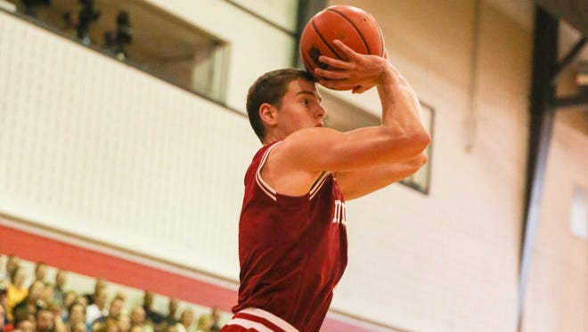 Nick Zeisloft (pictured) scored 14 points and shot 4-of-5 from behind the 3-point line in Indiana's win Monday.