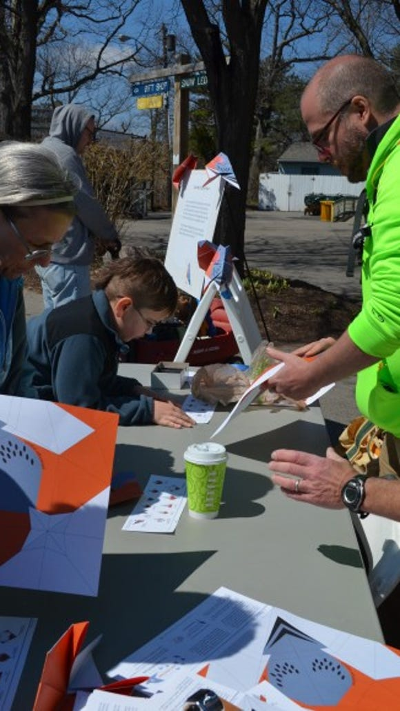 People made crafts and learned about conservation at our Earth Day celebration.