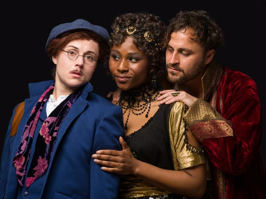 "From left, Marina Shay, Ginneh Thomas and Charles Pasternak. The Alabama Shakespeare Festival presents William Shakespeare's ""Twelfth Night"" comedy April 20-May 5, 2018."