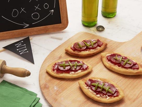 Football pizzas