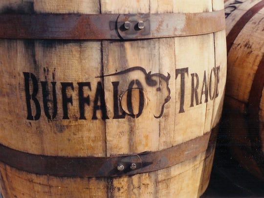 A bourbon barrel at Buffalo Trace,