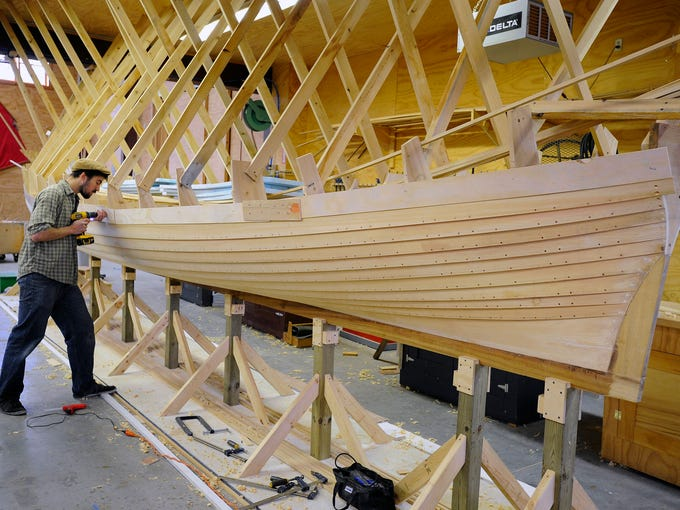 Great Lakes Boat Building School student Benjamin Davant