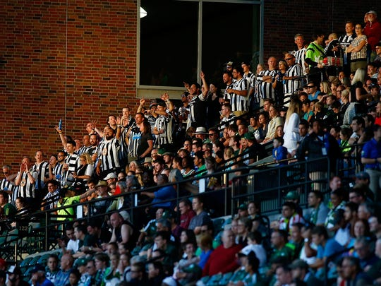Fans of Newcastle United during a friendly match against the Portland Timbers.