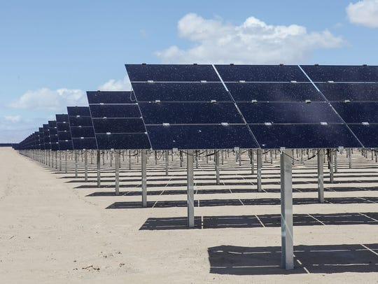 A 150-megawatt Tenaska solar farm near El Centro, in California's Imperial County.