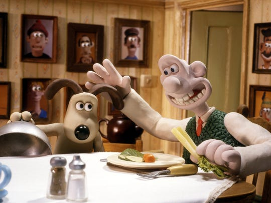 Gromit and Wallace, right, (voiced by Peter Sallis)
