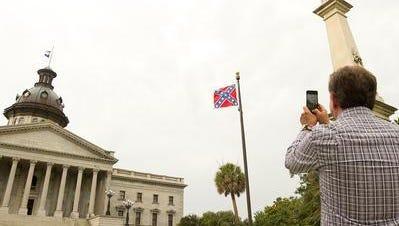 Confederate flag at South Carolina Statehouse.