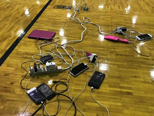 Outlets are a rarity at shelters, which is why surge