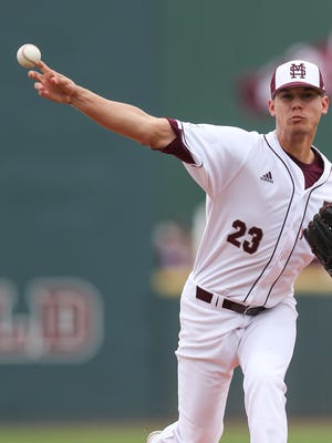 Mississippi State's Austin Sexton pitched 7 2/3 innings in a win against LSU on Saturday.