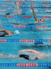 Second day of Damon McCoy Invitational Swim Meet Saturday morning at the Southside Swim Club.