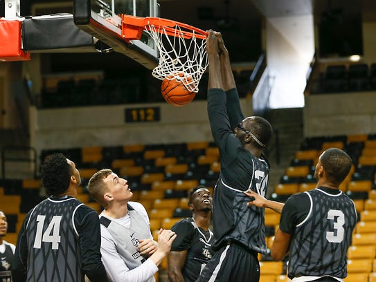 Tacko Fall has a reach that extends above 10 feet,