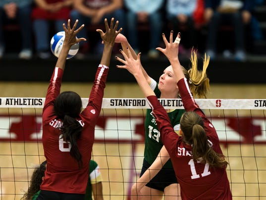NCAA Volleyball Second Round Playoffs: Colorado State University vs. Stanford University