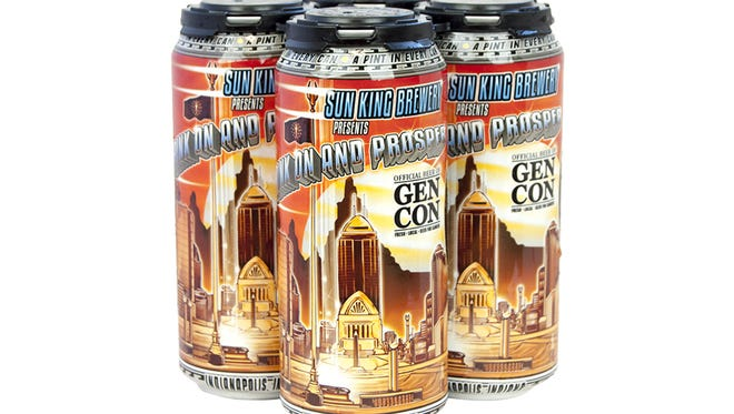 "Sun King, who has partnered with Gen Con since 2012, will can this year's special beer ""Drink On and Prosper."""