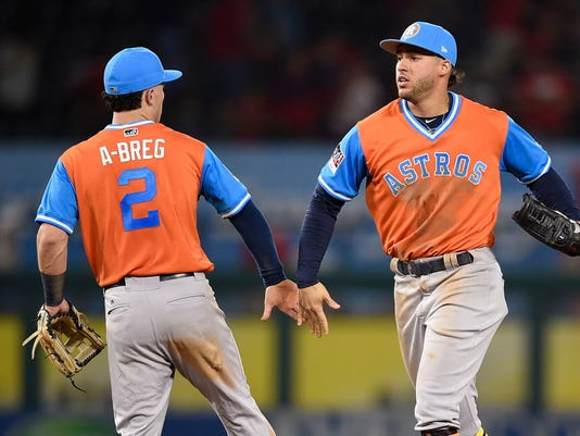 USP MLB: HOUSTON ASTROS AT LOS ANGELES ANGELS S BBA LAA HOU USA CA
