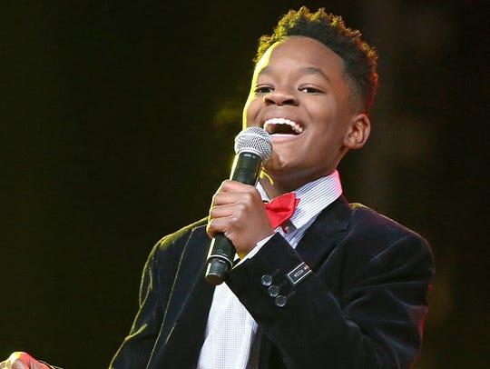 Raymond Davis Jr., 12, will portray Stevie Wonder and