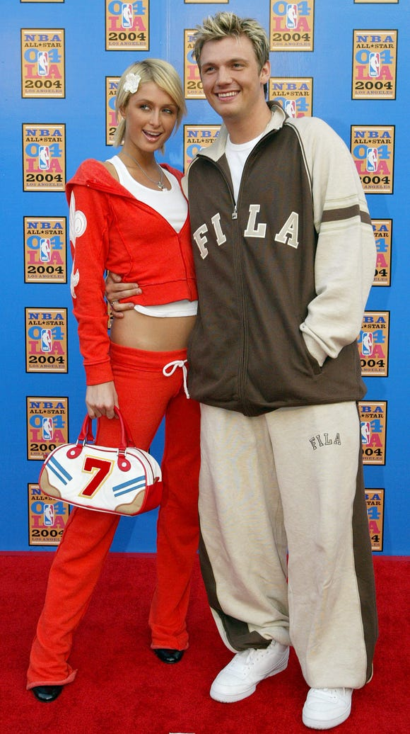 Paris Hilton, and her boyfriend at the time, Nick Carter,