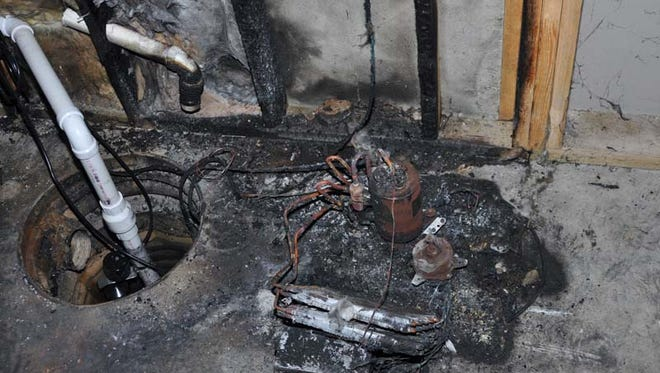 Property damage caused by a faulty dehumidifier. More than 2 million have been recalled, due to fire risk.