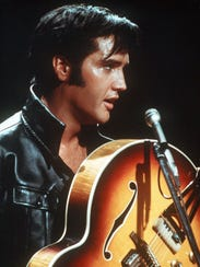 Elvis Presley is shown in this undated photo.  (AP