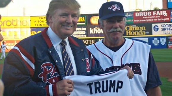Donald Trump visited TD Bank Ballpark in Bridgewater in 2004.