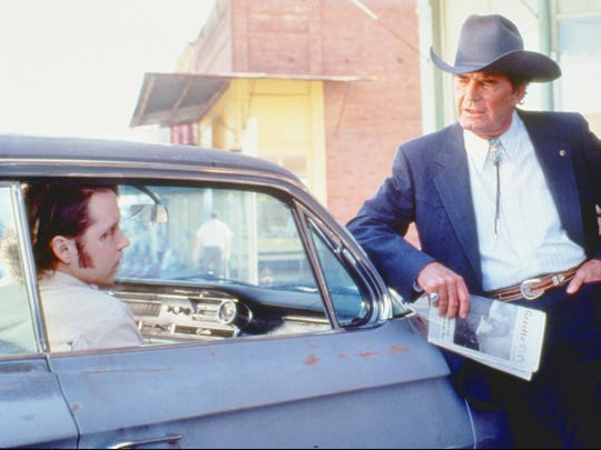 "D. B. Sweeney (left) and James Garner star in the Arizona-set ""Fire in the Sky"" (1993)."