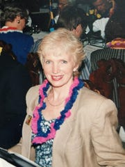 Elizabeth Burnside, Shawn Windsor's mother, at a dinner in Santiago, Chile, in the late 1990s.