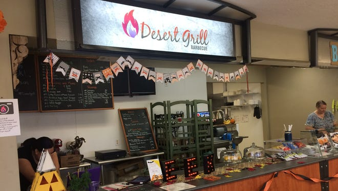 The Desert Grill serves up a variety of barbecue items such as ribs, brisket and pulled pork.