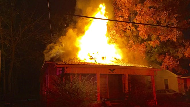 Murfreesboro Fire and Rescue officials suspect the Sunday morning fire at a home on North Church Street was caused by arson.