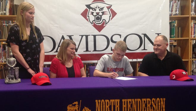 North Henderson senior Will Baldwin has signed to wrestle in college for Davidson.