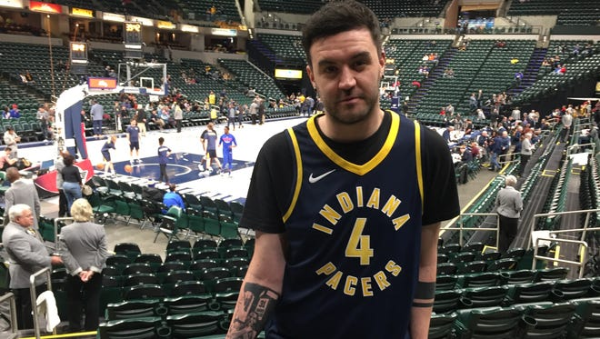 Indiana Pacers fan and Bristol, England native attended all six games of the Pacers' recent homestand, including Friday night's game against the Detroit Pistons.