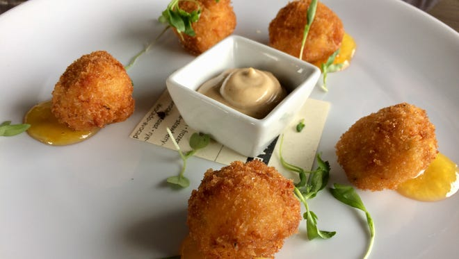 Pimento cheese fritters at the new Lucilla.