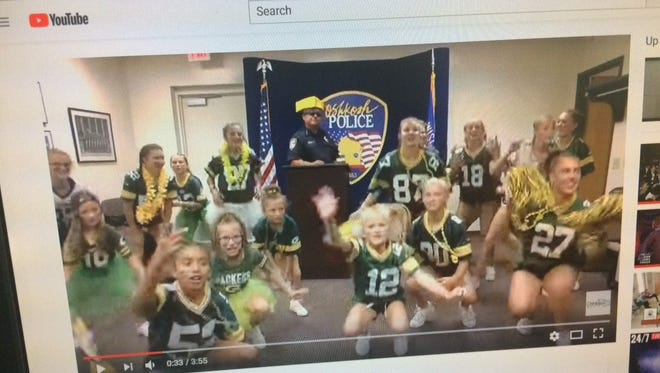 "The Oshkosh Police Department posted its own lip sync video Wednesday, July 18, 2018, to YouTube to the tune of ""Feelin' So Fly Like A Cheesehead."""