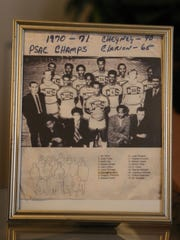 Antoine Harrison (2nd row, third player left to right) starred on Cheyney University's 1970-71 Pennsylvania State Athletic Conference championship team.