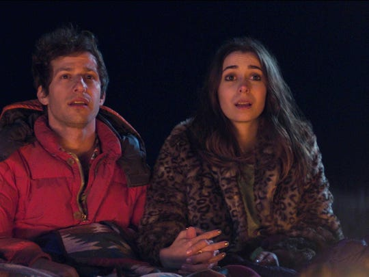 """Andy Samberg and Cristin Milioti in a scene from """"Palm Springs."""""""