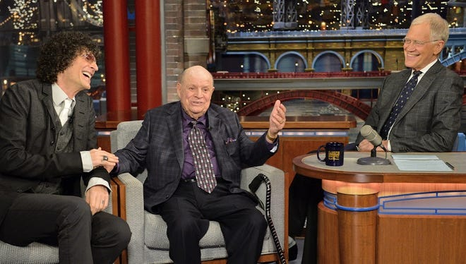 """Howard Stern and Don Rickles say farewell to """"Late Show"""" host David Letterman on Monday."""