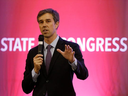 U.S. Rep. Beto O'Rourke, D-El Paso, speaks in September