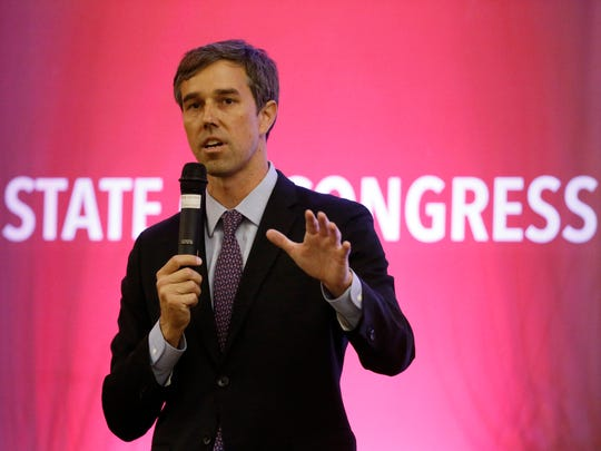 U.S. Rep. Beto O'Rourke, D-El Paso, speaks in September during the fourth annual State of Congress luncheon at the Wyndham El Paso Airport Hotel.