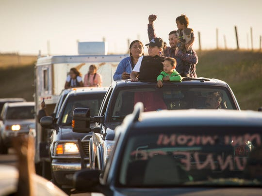 Native American families from the Pine Ridge Reservation