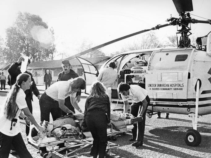 The commercial medical helicopters came to Phoenix
