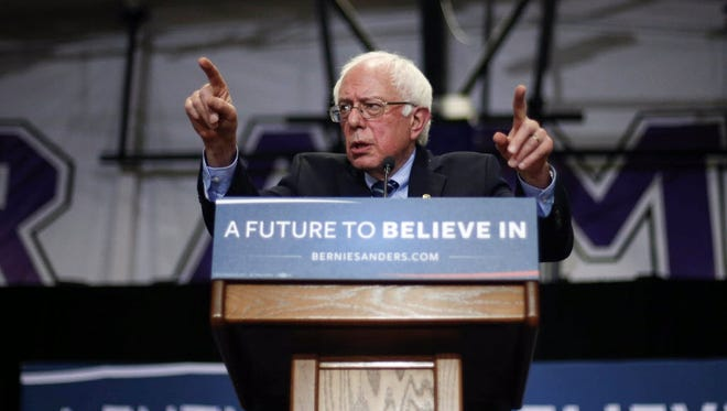 Bernie Sanders campaigns in Mount Vernon, Iowa, on Dec. 13, 2015.
