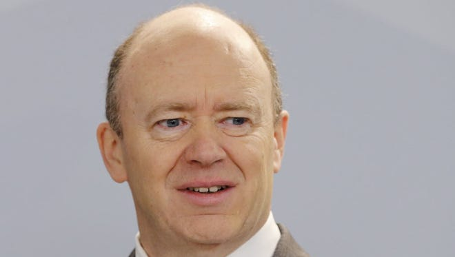 Deutsche Bank CEO John Cryan at the lender's annual press conference in Frankfurt on Jan. 28.