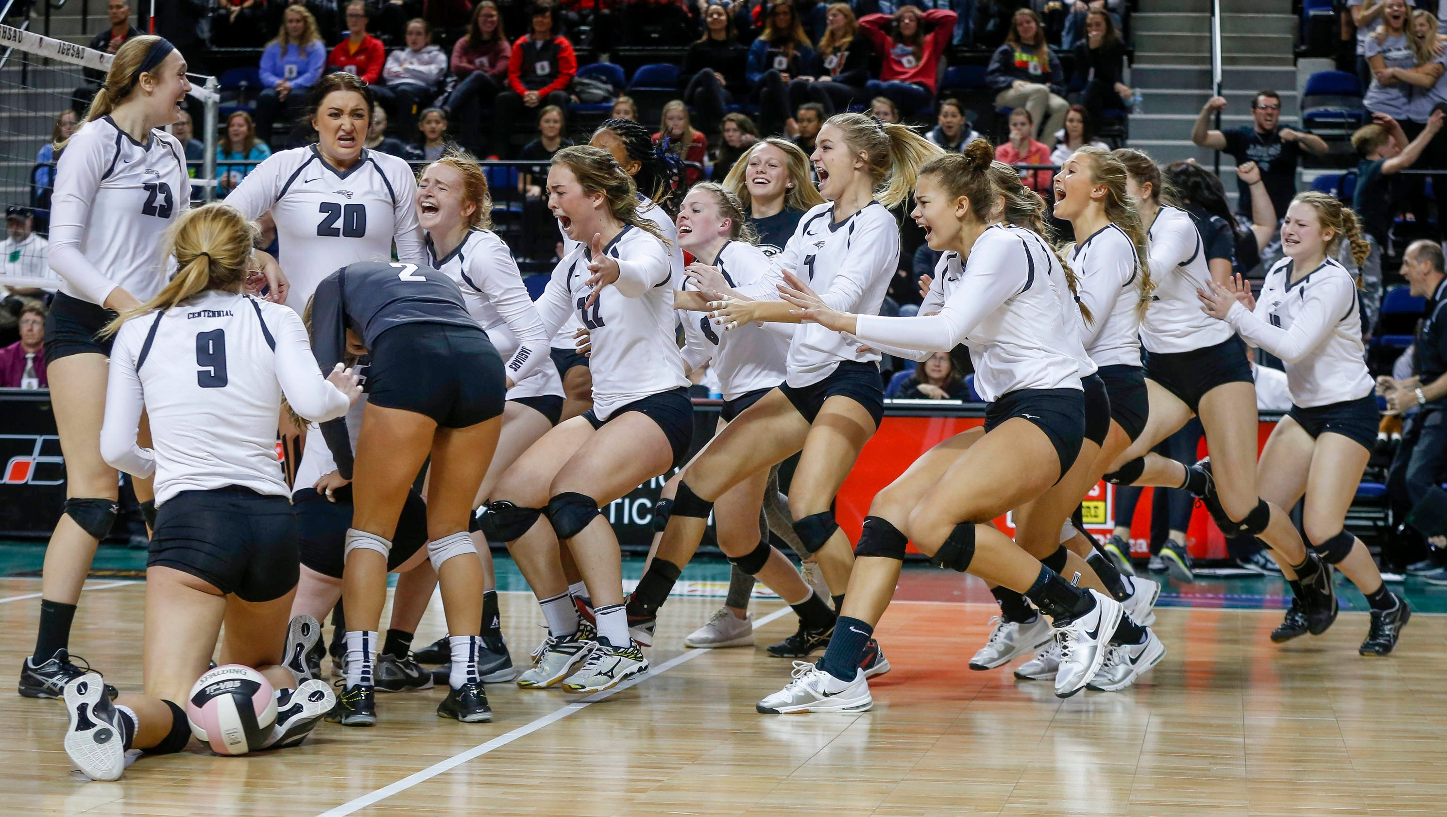 Photos: Centennial wins third consecutive 5A volleyball title