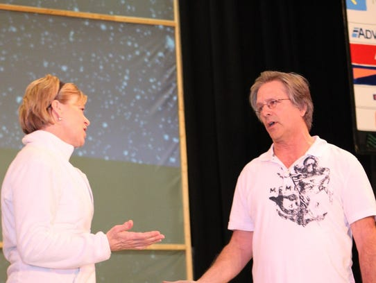 Julie Bruckelmeyer and Jeff Dupler rehearse for MCT's