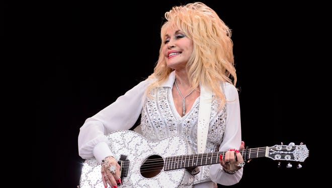 Dolly Parton in June 2014 in at Glastonbury Festival in Somerset, England.