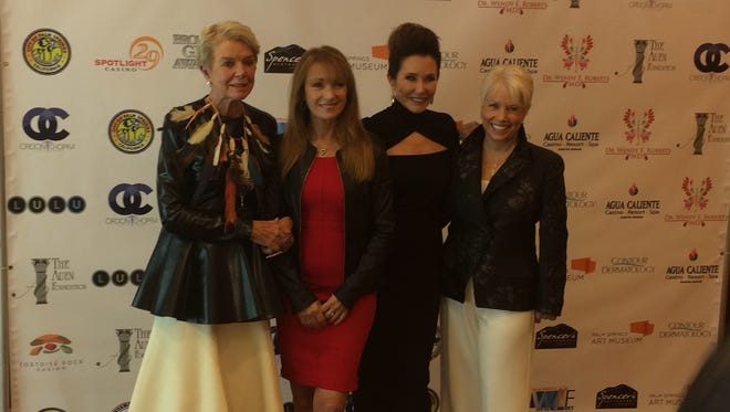 2015 Broken Glass recipients L to R: Donna MacMillan, Jane Seymour, Mary McDonnell and Joyce Bulifant.