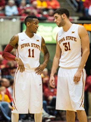 Iowa State guard Monte Morris (11) and forward Georges Niang (31) find themselves in the Associated Press' top 10 for the first time this season.