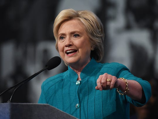 Democratic presidential candidate Hillary Clinton speaks at the American Federation of State, County and Municipal Employees (AFSCME) 42nd International Convention at the Las Vegas Convention Center on July 19, 2016 in Las Vegas, Nevada.