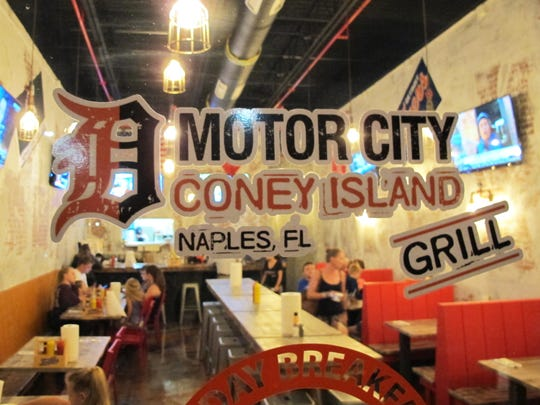 Motor City Coney Island Grill is in Creekside Corners, the retail center on the southeast corner of Goodlette-Frank and Immokalee roads in North Naples.