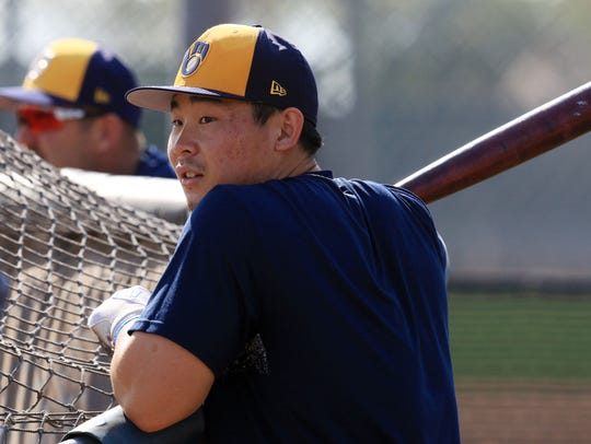 Second baseman Keston Hiura is one of the Brewers'